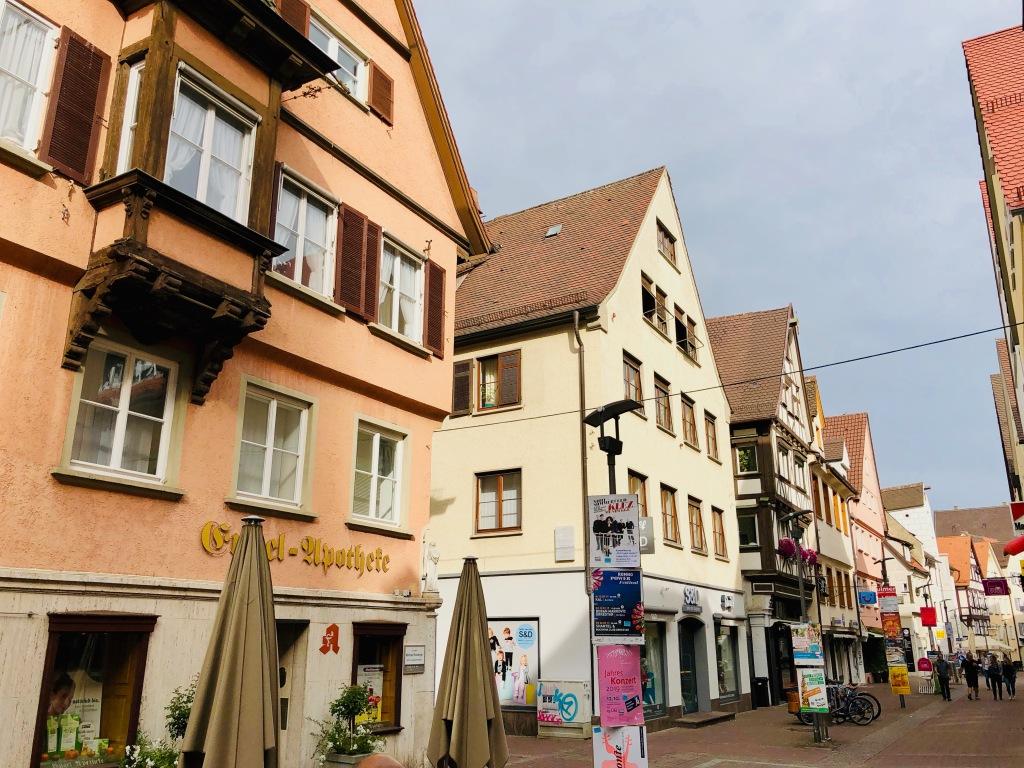 Engel Apotheke Ulm, old town center ulm near ulm mintser, Ulmer muenster, ulm, baden wuertemmberg